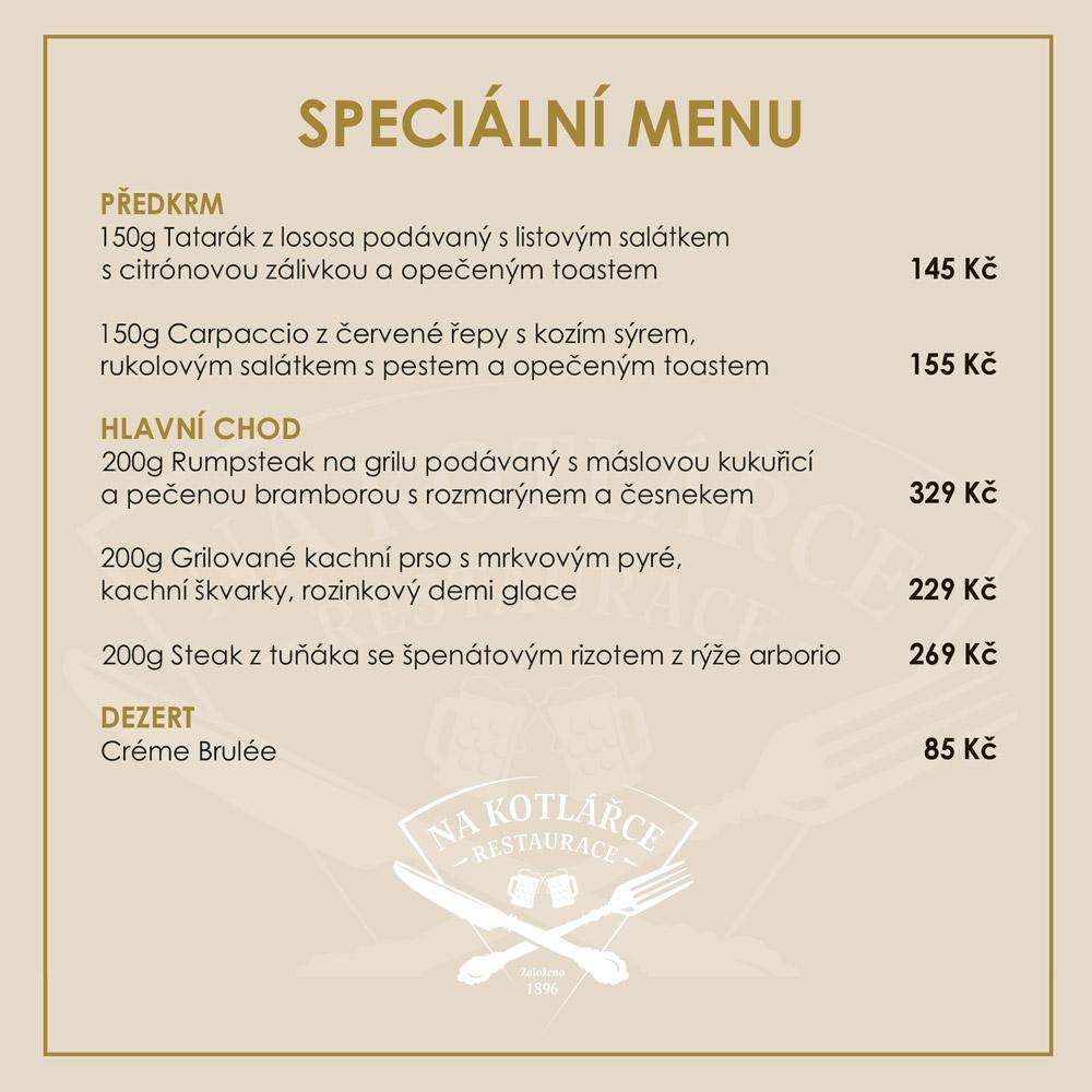 Speciální menu 27.7.2020