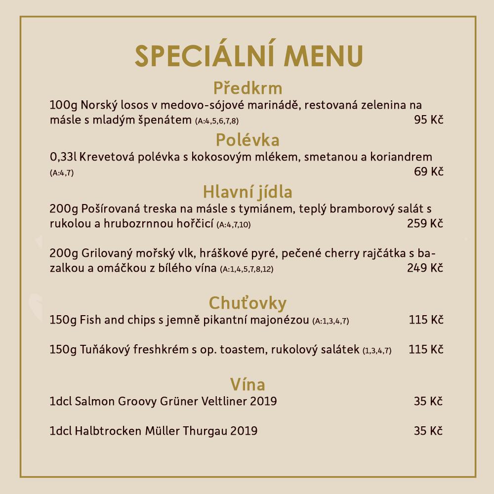 Rybí Speciální menu